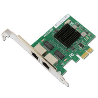 E575T2 Dual port PCI E X1 Gigabit Ethernet Network Card 10/100/1000Mbps LAN Adapter Controller Wired 82575 E1G42ET ROS