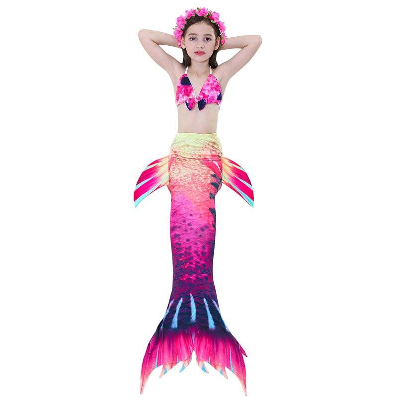 girls mermaid tail swimwear 2-3
