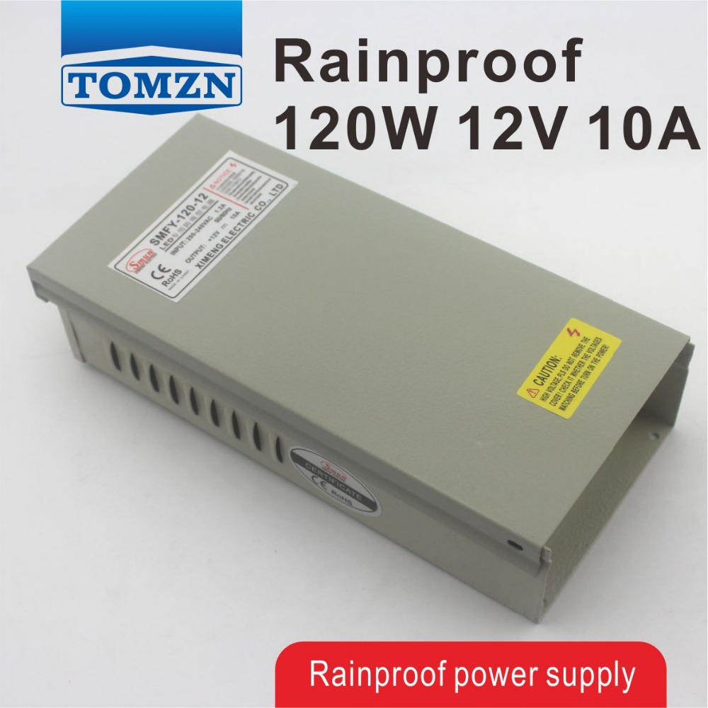 120W 12V 10A Rainproof outdoor Single Output Switching power supply smps AC TO DC for LED