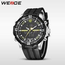 купить Weide new genuine LCD watch luxury brand quartz sport watches analog alarm clock men relogio masculino Schockeen water resistant по цене 1390.58 рублей