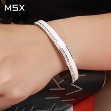 Beauty Stainless Steel Ceramic Resin Women Bracelets Luxury