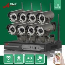 ANRAN P2P 8CH 1080P HDMI WIFI NVR 2.8-12MM Lens 78 IR Outdoor 2MP Wireless IP Camera Video Security Surveillance CCTV System