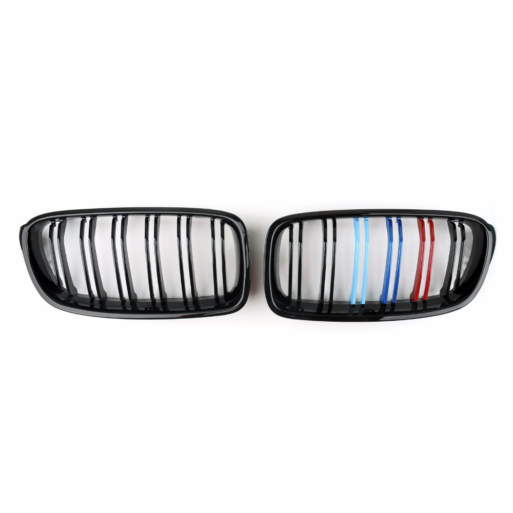Areyourshop Car Front Kidney Grill Double Rib Grille For BMW 3 Series F30 F35 2012-2014 High Quality Car-Styling Grille Parts racing grills version aluminum alloy car styling refit grille air intake grid radiator grill for kla k5 2012 14