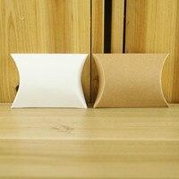 AJP 50 adet/grup Kraft kağıt Yastık şekil şeker çanta DIY Düğün Hediye Favor Kutuları Parti Şeker Kutusu