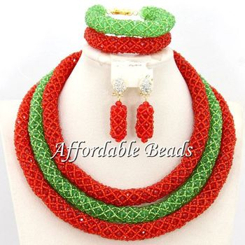 Different Colors African Jewelry Bead Set Charming Nigerian Bead Set New Arrival Free Shipping BN209