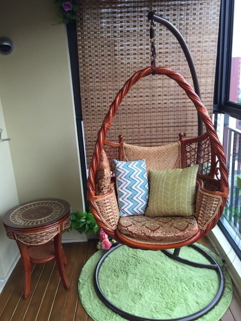 Natural air gondola cradle swing hanging chair outdoor balcony ...