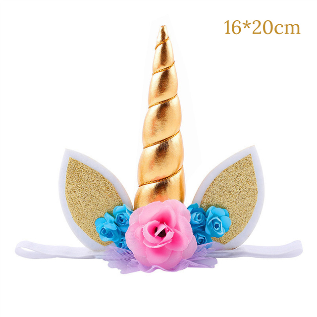 Pink Princess Party Decorations Unicorn Headband Cake Topper Wall Hanging Wreath Princess First Birthday Unicorn Party Favors