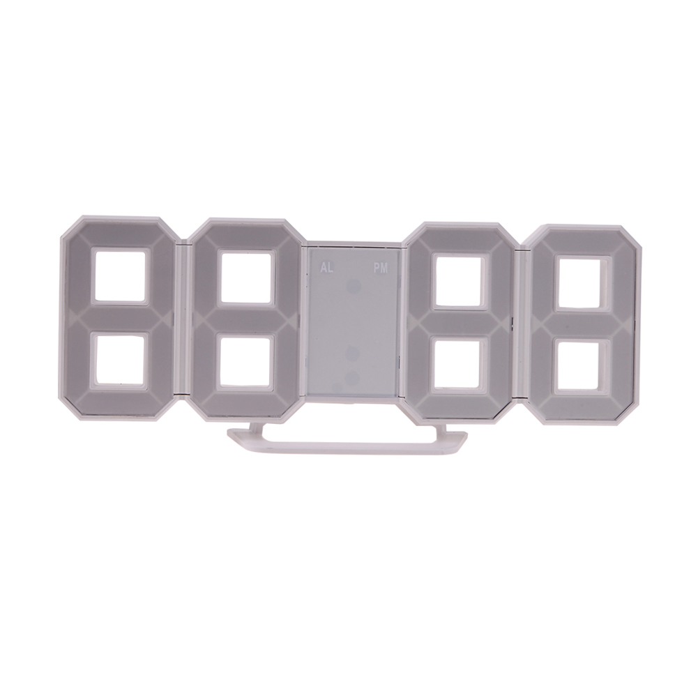 2 IN 1 Table <font><b>Clock</b></font> Led Digital Number Design Show Alarms Temperature Date Countdown Wall Watch In The Living Room