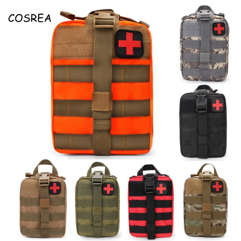 Cosrea Outdoor Medical Tactical Lifesaving Molle Nylon Waterproof Accessory Bag Storage Pockets Military Combat Climbing Package