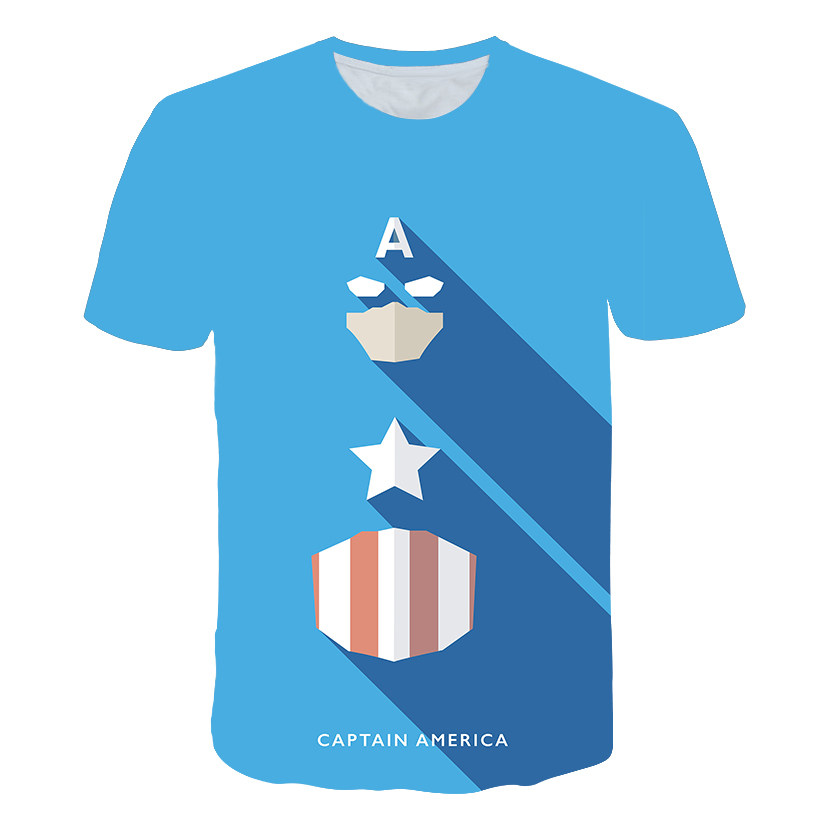 2019 cartoon  Captain America  blue kid/Parent-child outfit