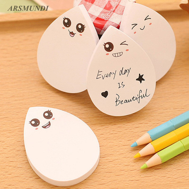 Novelty Water Drops Shape Sticky Notes Kawaii Post it Stationery Papelaria Escolar School Supplies