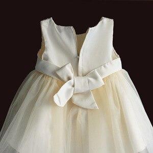 Image 4 - Baby Mädchen Kleid Für Party Prinzessin Spitze Perle Säuglings Taufe Kleid 1 Jahr Geburtstag Kleider Weihnachten Baby Kleidung