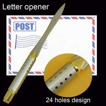 Открывалка золотые серебряные офисные отверстия классические металлический письмо новинка нож канцелярские
