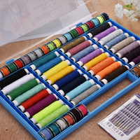 Sewing Tools Kits 32 Colors Embroidery Thread Sewing Travel Set Portable 64 Volumes Sewing Line With