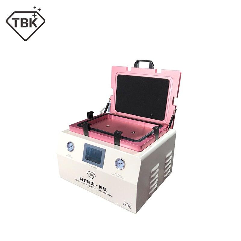 TBK-308A 15 pouce LCD Écran Tactile De Réparation Automatique Bubble Retrait Machine OCA Stratification Sous Vide Machine avec verrouillage automatique gaz