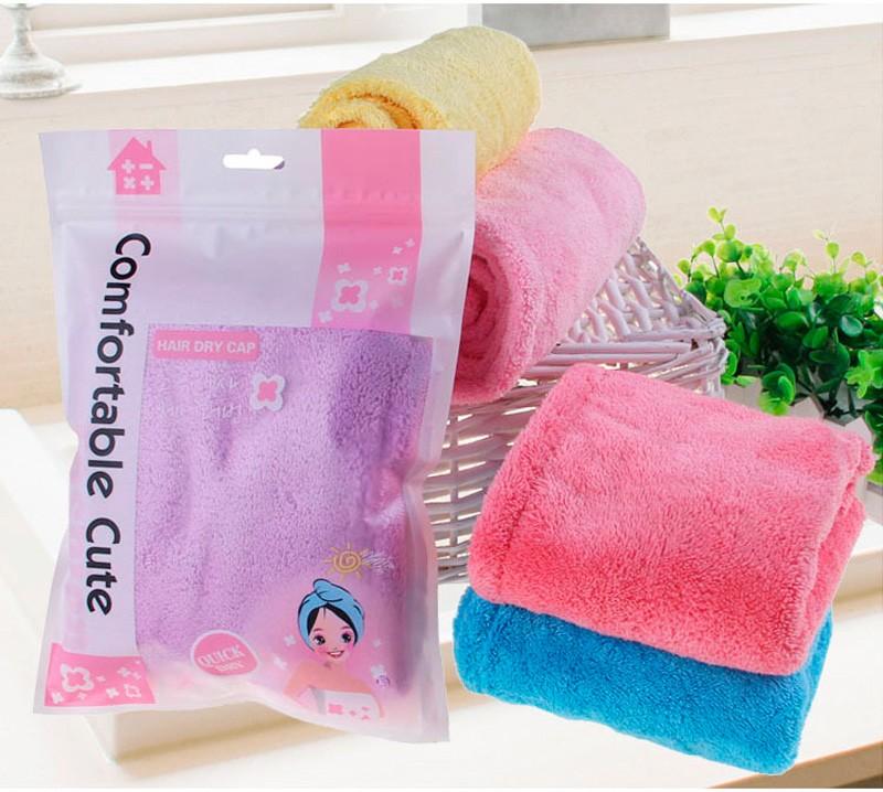 GIANTEX Women Bathroom Super Absorbent Quick-drying Microfiber Bath Towel Hair Dry Cap Salon Towel 25x65cm U0755 6