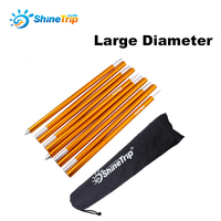 2pcs Set 19mm 2M Length Outdoor Camping Tent Pole Aluminum Alloy Tent Rod Spare Replacement Tent