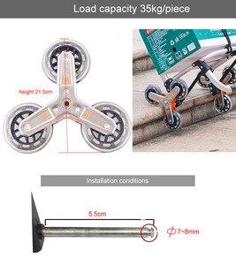 Image 2 - Roda de quadro triangular/rodas de escalada, casters com rolamento, para carrinhos de bebê, transporte de bebê, mobiliário caster