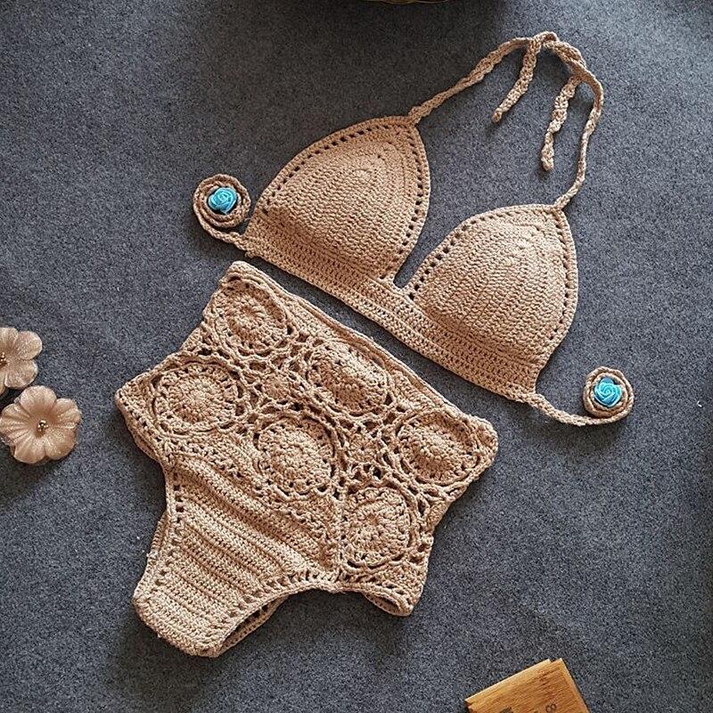 Жаңа трикотаж Bikini Set 2019 Әйелдер жоғары - Спорттық киім мен керек-жарақтар - фото 4