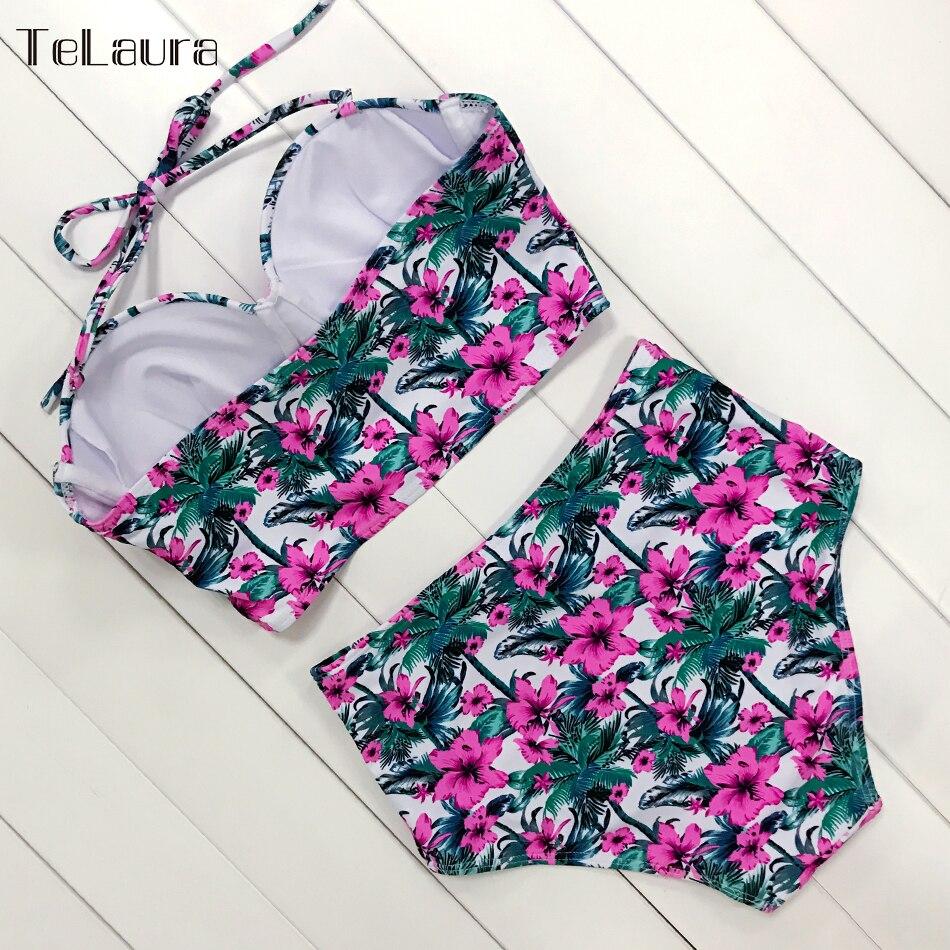 HTB1qSmfPzTpK1RjSZKPq6y3UpXag Sexy Floral Print High Waist Swimsuit 2019 Bikini Push Up Swimwear Women Vintage Biquini Bathing Suit Maillot de Bain Femme XXL