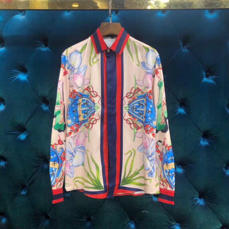 WA0660BA модные Для мужчин рубашки 2018 взлетно посадочной полосы Элитный бренд Европейский Дизайн вечерние стиль Мужская одежда