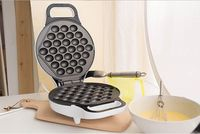 FREE SHIPPING HK Non Stick Automatic Household Home Electric Rotary Egg Waffle Maker Pancake Machine