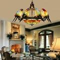 Led e27 Tiffany Glas Zink-legierung Papagei Led-lampe LED-Licht. Pendelleuchten. Pendelleuchte. pendelleuchte für Esszimmer Foyer