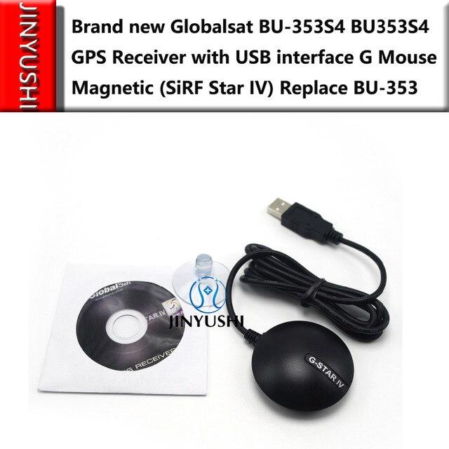 10 יח\חבילה Globalsat BU353S4 GlobalSat BU 353S4 כבלי USB מקלט GPS עם ממשק USB G עכבר מגנטי (Sirf Star IV)