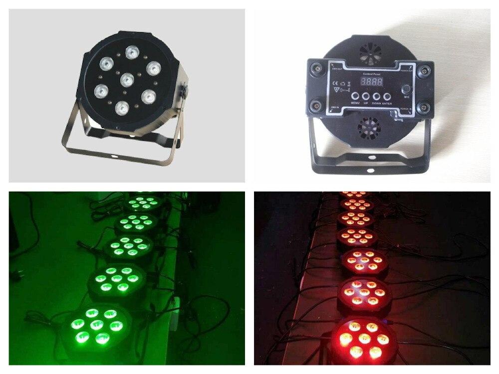 20pcs/Lot, ADJ IEC Power IN/ OUT LED Slim par Light 7x3w/9w RGB 3in1 or 7x4w/12w RGBW 4in1 or 7x15w RGBWA 5in1 Flat Par38 DMX