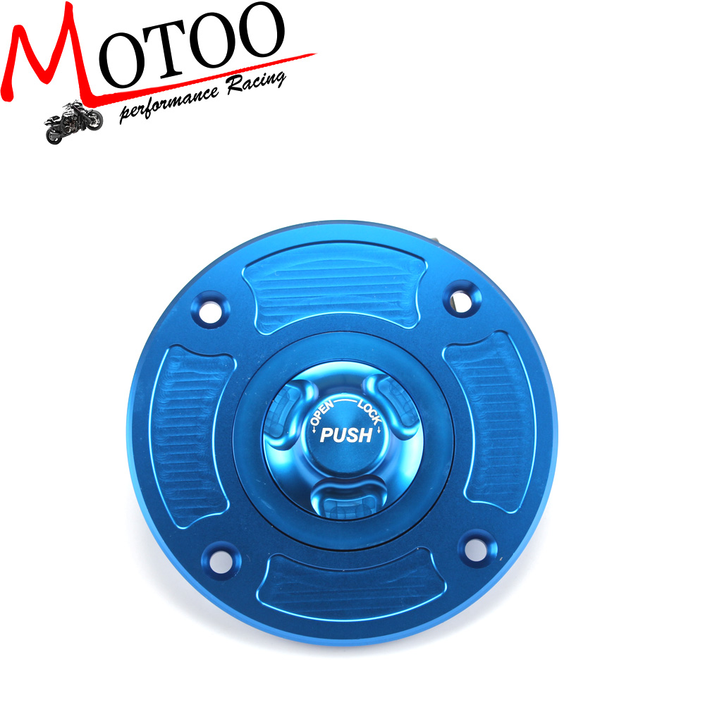 Motoo - Motorcycle  CNC Aluminum Fuel Gas CAPS Tank Cap tanks Cover With Rapid Locking For SUZUKI GSXR600 750 1000 1300 GSX600F brand new motorcycle cnc rc fuel tank gas cap fit for 1996 2014 harley sportster dyna touring softtail