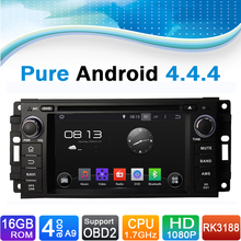Pure Android 4.4.4 Car GPS Navigator DVD Radio for Jeep(2005-2007), for Chrysler 300C(2005-2007), for Dodge(2005-2007)