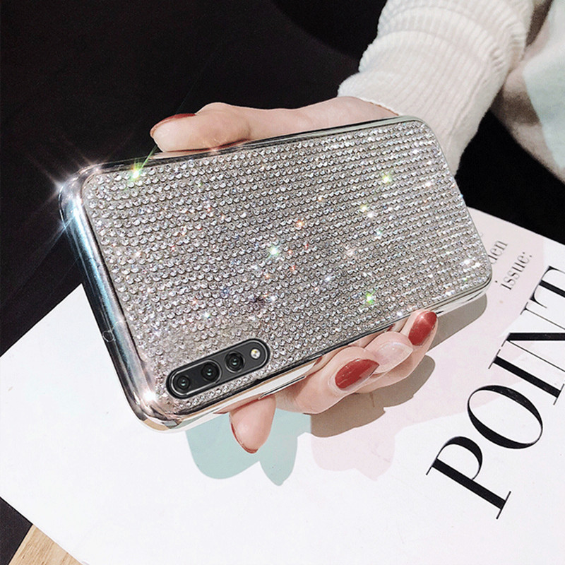 Luxury Bling Glitter Diamond Phone Case For Huawei P20 Pro P20 lite Mate 20 Pro Nova 3E Soft TPU Silicone Rhinestone Cover Cases