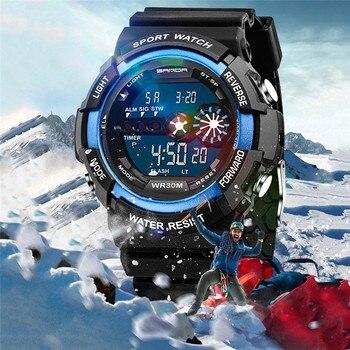 373cf0667236 2017 Venta caliente LED Digital Reloj hombres relojes hombres lujo famoso  reloj masculino reloj militar del deporte impermeable reloj Digital