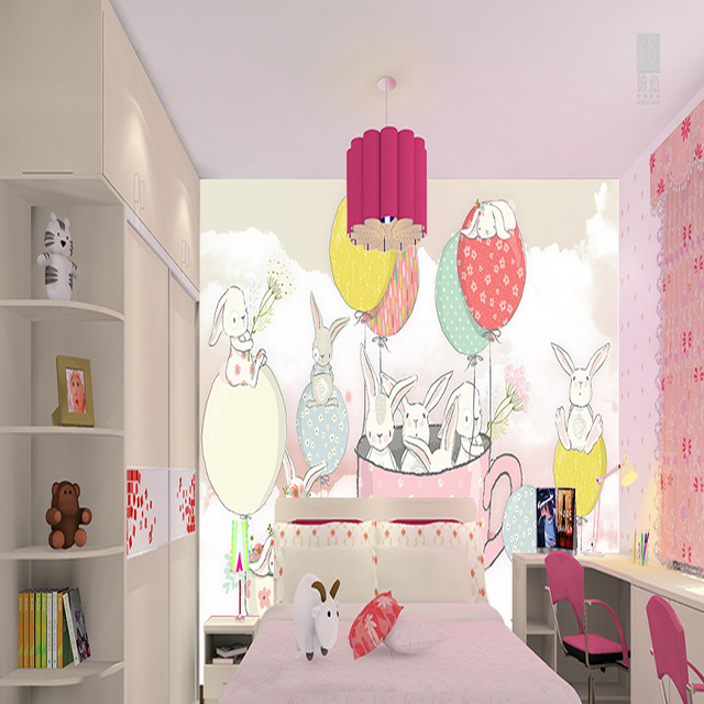 US 4040 40% OFFcustom 40d Wallpaper Modern Bedroom Wall Decorative Painting For Kids Room Suitable For Girls Kids Pink Wall Mural Home Decorin Cool Modern Bedrooms For Kids Painting