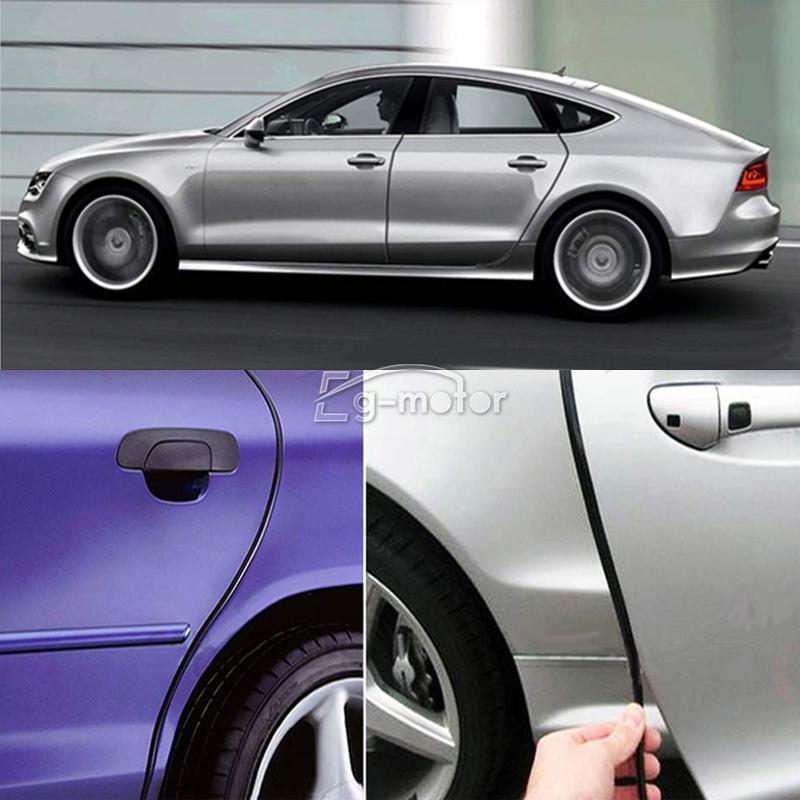 Gratis pengiriman Universal Hitam Mobil Pintu Ujung Penjaga Moulding - Suku cadang mobil - Foto 3