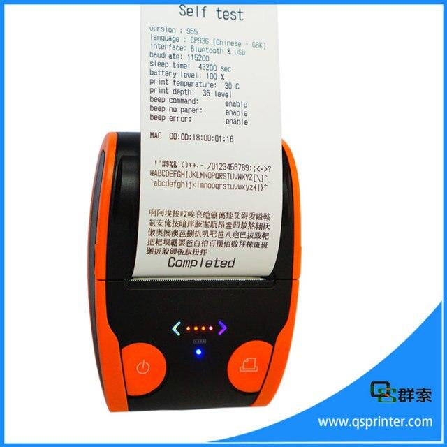 mini bluetooth 58mm impressora trmica impressora de etiquetas de cdigo de barras pequenas