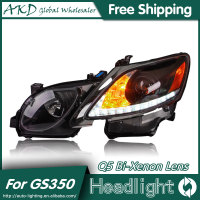 AKD Car Styling For Lexus GS350 Headlights 2004 2011 GS300 LED Headlight LED DRL Bi Xenon