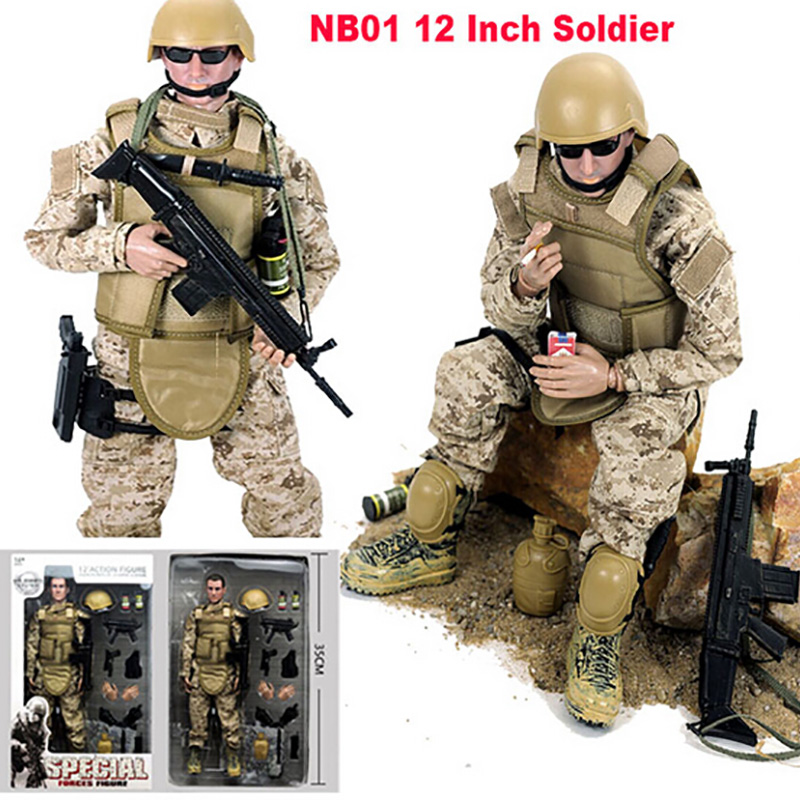 1//6 Scale Men Soldier Hands and Feet Set Replament Body Parts for 12inch Action
