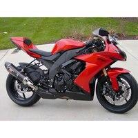 Новая дешевая мотоциклетный завод зализ тела для 2008 2009 2010 Kawasaki ZX10R красный черный Road Обтекатели набор ниндзя ZX 10R 08 09 10