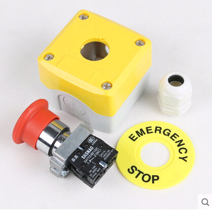 1/NC  BE102C Safety goods elevator lift, STOP STOP button switch box, rain emergency STOP elevator and lift spare parts mtd142 button