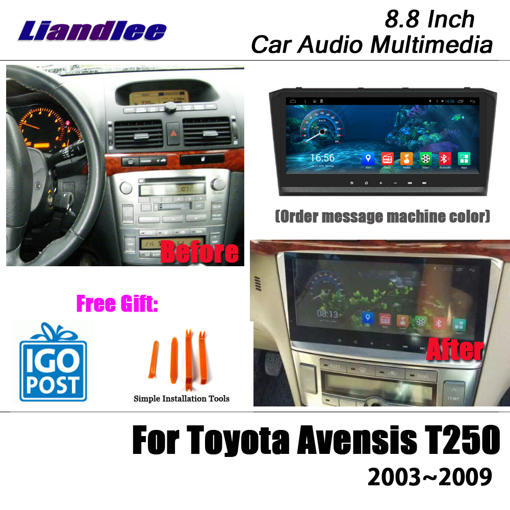 Liandlee 8 8 Android For Toyota Avensis T250 2003 2009 Stereo Radio Video Wifi Carplay Map