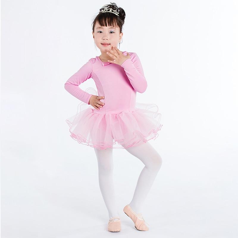 Children Leotard Girls Gymnastics Leotard Ballet Dress Girl Competition Practice Skirt  Polyester Ballet Skirt Children Costume