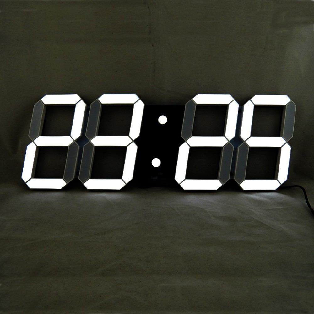 Aliexpress buy large led digital wall clock remote control aliexpress buy large led digital wall clock remote control modern 3d clock home design big decorative watch white black light yellow optional from amipublicfo Images