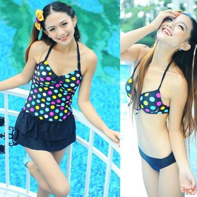46bab650db3e4 2012 New arrival Women s sexy bikini set Three-piece Swimsuit Set Free  shipping Tankini set DB-91