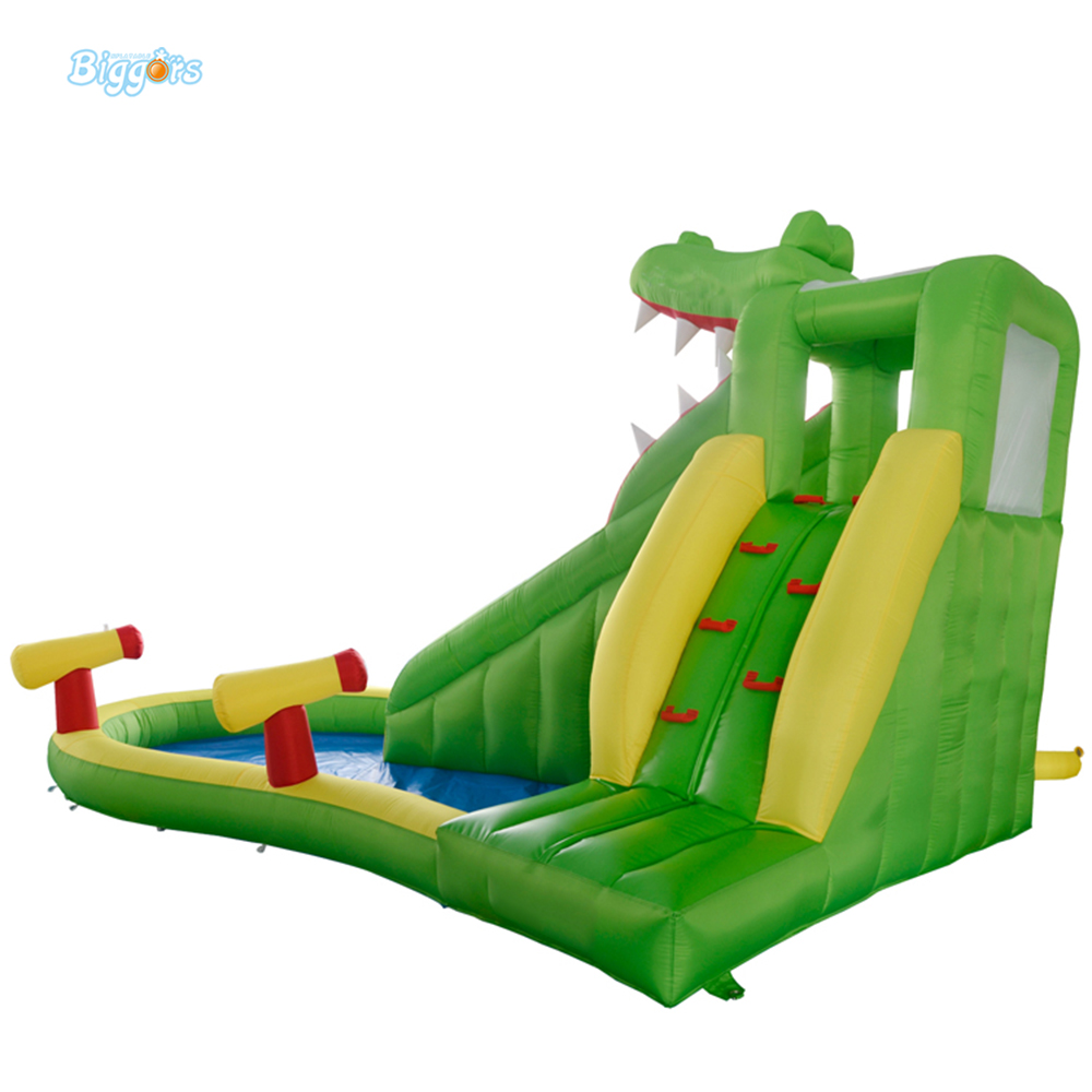 DHL Free Shipping Inflatable Bouncer Crocodile Jumper with Long Slide with Blower for Kids  цены