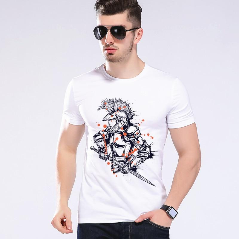 Armor Warrior T Shirt Funny Warrior Design T-shirt Men Printed Top Tee Cool Fashion Novelty Style Creative Tshirt Moe Cerf 2D-5#