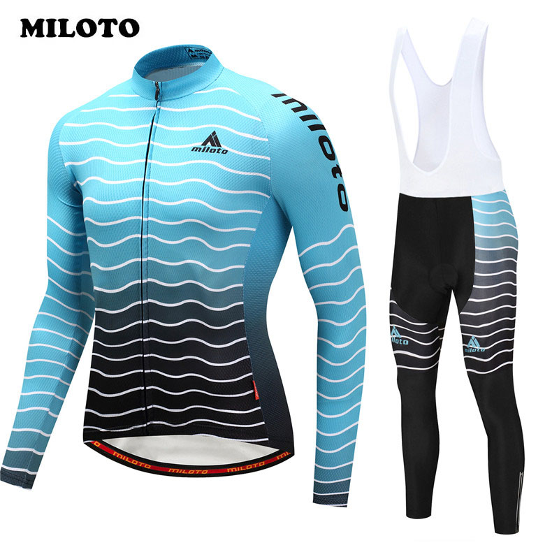 Miloto pro team Autumn Long Sleeve Cycling Jersey Set Racing Sport Cycling Clothing Road mtb Bicycle Bike Jersey Ropa Ciclismo X xintown team mens cycling long sleeve jersey bib pants suit red clothing set ropa ciclismo mtb bike bicycle s 4xl