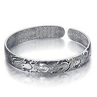 Mode 925 zilveren armband, mannen en vrouwen oude gewoontes Thai zilveren draak en phoenix armbanden Gratis verzending sieraden