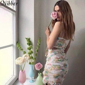 Image 3 - Vestido corto femenino de verano con estampado Floral, minivestido sexy para mujer, con encaje, estilo bohemio, 2019