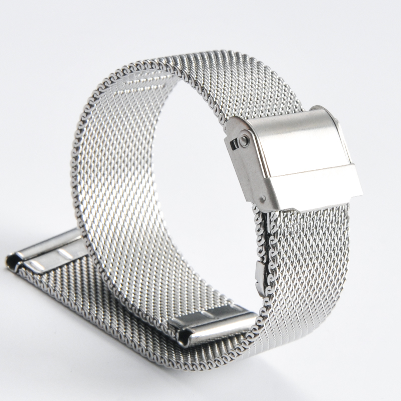 2019 NOVA Moda de Alta Qualidade Relógio Banda 18mm 20mm 22mm 24mm Top Marca Aço Inoxidável Milanese pulseira de Relógio de pulso